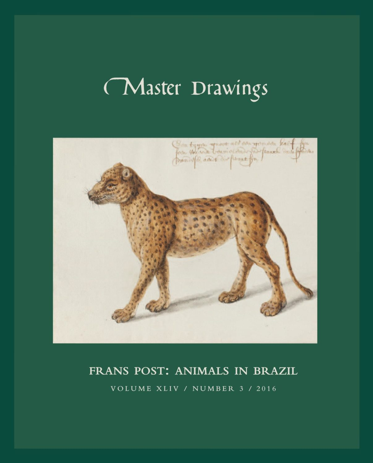 Master Drawings, Volume 54, No 3 (Fall 2016)