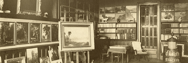 Unknown photographer, Interior of Durand's Studio, Maplewood, New Jersey, after 1878. Albumen print; 7 5/8 x 9 9/16 in.(194 x 243 mm). New-York Historical Society Library, Gift of Nora Durand Woodman, 1935