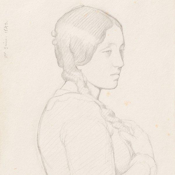 """Paul Flandrin, """"Portrait Of A Woman,"""" Clark Art Institute"""