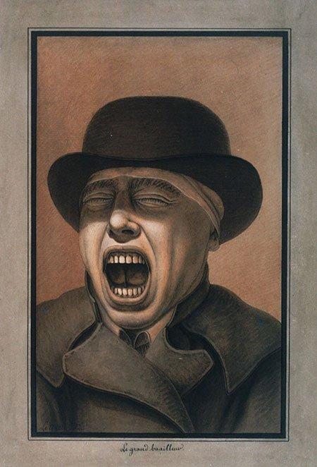 """Jean-Jacques Lequeu, """"The Great Yawner,"""" Bibliothèque nationale de France, Paris"""