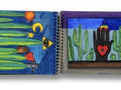 """Image: Betye Saar, """"Spread from Mexico sketchbook, June 1975,"""" gouache, watercolor, and pencil, courtesy of the artist and Roberts Projects, Los Angeles, California. © Betye Saar"""