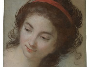 """Elisabeth Vigée Le Brun, """"Head of a Woman,"""" pastel on paper, Promised Gift from the Collection of Elizabeth and Jean-Marie Eveillard. The Frick Collection, Photo: Joseph Coscia Jr."""